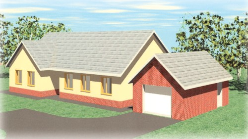 Llysdewi 3 Bedroom Timber Frame Bungalow